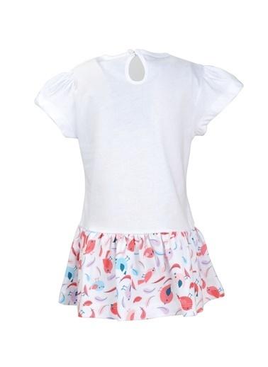 Zeyland Beyaz Mommy Loves Me Elbise (9ay-4yaş) Beyaz Mommy Loves Me Elbise (9ay-4yaş) Beyaz